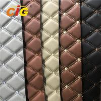 Hot Selling Embroidery PVC leather with High Density Foam Used for Car Seat Car