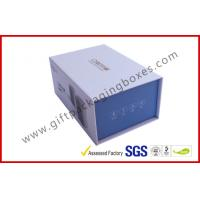 Buy cheap Blue Tooth Speaker Magnetic Rigid Gift Boxes White And Blue Custom Packaging Boxes from wholesalers
