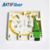 Buy cheap 2 Port FTTH Terminal Box 2 Port Socket Panel Optical fiber information panel box from wholesalers
