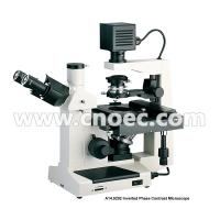 Buy cheap 400X Plan Phase Contrast  Inverted Optical Microscope Halogen Lamp Rohs CE A14.0202 from wholesalers