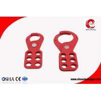 Buy cheap 93g 38mm Red Steel Economic Safety Lockout Hasp two size optional , 6 pcs Padlocks Can be Equipped from wholesalers