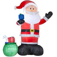 Buy cheap Factory Customized Merry christmas holiday christmas inflatable santa decorations from wholesalers
