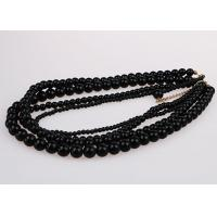 Buy cheap Fashion Graduated Costume Pearl Necklace Accessories Four Strand Black Color from wholesalers