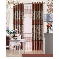 Buy cheap Elegant Blackout Fabric Luxury Ready Made Curtains / Jacquard Window Curtain With Polyester product