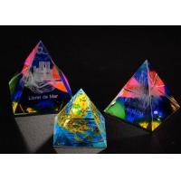 Buy cheap 3D Engraved Crystal Trophy Cup Colorful Glass Awards As Competition Souvenirs from wholesalers