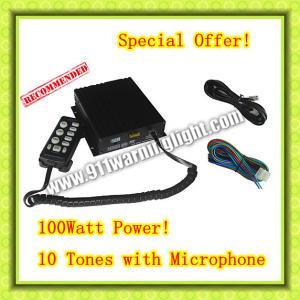 Buy cheap CJB-100Z Car Siren, 100W, 2 light switches, 10 tones, volume adjustable product