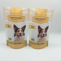 Buy cheap Matte Finish Wet Dog Food Pouches , Resealable Stand Up Pouches Packaging With Hanger Hole from wholesalers