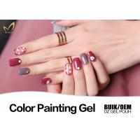 Buy cheap Odorless UV Gel Nail Paint No Chemical Nail Polish Customized Color No Heat product