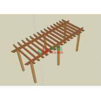 8m * 4m * 2.5m Beautiful Wood Plastic Composite Pergola Split Resistance Antisepsis