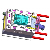 Buy cheap ABS HTM Back Plate 1*1 Cavity Custom Plastic Injection Molding from wholesalers