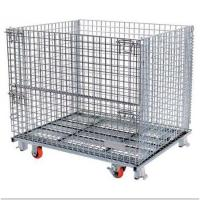 Buy cheap Warehouse Stackable Pallet Cages Heavy Duty Ganvalnized Zinc Plated Surface from wholesalers