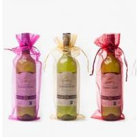 Buy cheap wine bottle plain organza wine pouch bag Christmas/wedding gift bag wholesale from wholesalers