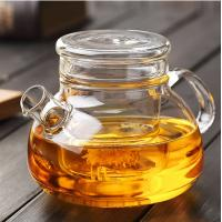 Buy cheap 900ml Heat Resistant Borosilicate Glass Teapot with glass Infuser for Loose Tea, Bagged and Flowering Teas from wholesalers