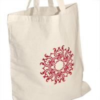 Buy cheap Eco Friendly Embroidered Tote Bags For Bridesmaids , Reusable Shopping Bags from wholesalers