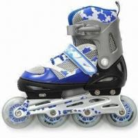 Buy cheap Inline Skates, PU Wheel with Printing, Aluminum Truck from wholesalers
