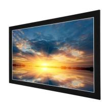 Buy cheap Acoustically Transparent Fabric Fixed Frame Projection Screen With Velvet Aluminum Frame from wholesalers