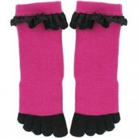 Buy cheap custom softness 144 needles cotton+spandex women Toe Socks with Lace from wholesalers