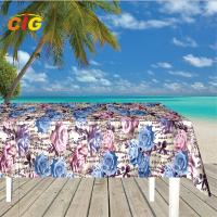 Buy cheap 500GSM Printied PVC Film Plastic Tarpaulin Fire - Resistant For Table Cloth product
