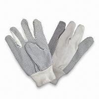 Buy cheap PVC Dotted Hand Gloves, Made of Polyester, Available in Various Colors from wholesalers