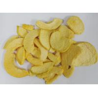 Buy cheap Low Fat Freeze Dried Fruit , Yellow Dried Peach Chips 0.3-0.5% Citric Acid from wholesalers