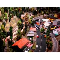 Buy cheap HO scale Model Car with LED light for the model train layout from wholesalers