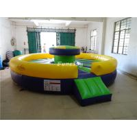 Buy cheap 0.55mm Plato PVC Tarpaulin Inflatable Sport Games Jousting Field Yellow / Green / Blue from wholesalers