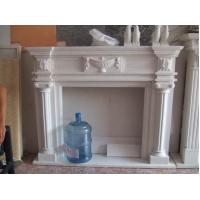 Buy cheap Pure White Hand Carved Stone Fireplace Carving Flower from wholesalers