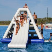 Buy cheap Hot air welded Aquaglide Jungle Joe 2 / Inflatable Water Toys For Water Park from wholesalers