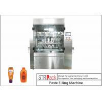 Buy cheap PLC Control 8 Nozzles Paste Filling Machine , 400G Glass Jam Jar Filling Machine product