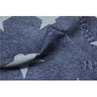 Buy cheap Blue Ripped Jeans Printed PU Leather With Five Stars 0.6mm For Jacket from wholesalers