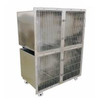 China Sturdy Custom Metal Products / Stainless Steel Dog Cage With 4 Caster Wheels on sale