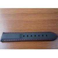China Black custom watch band / quartz watch rubber band with thread 180 / 200 * 20 * 5 mm on sale