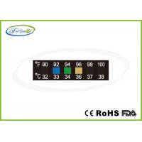 Buy cheap Reversible Temperature Indicating Labels LCD Thermometer Strip for Household / Diagnostic from wholesalers