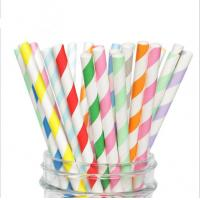 Buy cheap FDA Approved Baby Shower Paper Straws Recyclable Odor Free Earth Friendly from wholesalers