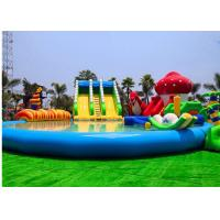 Buy cheap Customized Inflatable Water Parks Swimming Pool Slides For Land from wholesalers