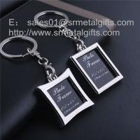 Buy cheap Metal picture frame locket key tag with print card insert, photo locket, from wholesalers