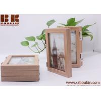 Buy cheap Wholesales handmade Eco-friendly three foldable bamboo wooden picture frame from wholesalers