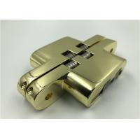 China Flush Look SOSS Hinges For Hidden Doors Gold Plated Surface Finishing on sale
