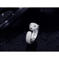 Buy cheap Diamond 18K White Gold Panthere Cartier Ring , Cartier Panther Ring With Emeralds Onyx from wholesalers