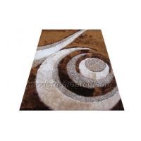 Buy cheap Hand-tufted Contemporary Area Rug, Brown Polyester Patterned Shaggy Rugs from wholesalers