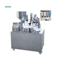 Buy cheap Semi Automatic Plastic Tube Filling And Sealing Machine Grease Cosmetic Toothpaste product