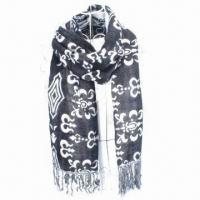 Buy cheap 100% acrylic double jacquard scarf/shawl, fashionable design from wholesalers