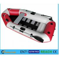 Buy cheap White And Red Inflatable Float Boat PVC Drift Boat Inflatable Fishing Boat from wholesalers