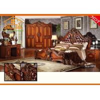 Buy cheap antique Wholesale low price hand painted Classic Wood Hand Carved veneer indian double bed bedroom furniture set designs from wholesalers