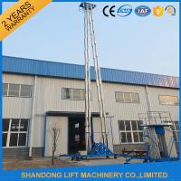 Buy cheap Hydraulic Mobile Telescopic Ladder Aerial Work Platform Lift With 150kgs Loading 19m Height from wholesalers