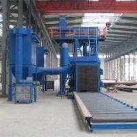 Buy cheap Q69 steel plate roller conveyor shot blasting machine from wholesalers