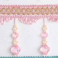 Buy cheap Newest lantern design handmade polyester curtain lace beaded fringes tassels from wholesalers