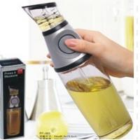 Buy cheap Glass Vinegar Press And Measure Oil Dispenser 500ml With Silicone Button from wholesalers