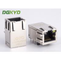 Buy cheap 25.4mm Integrated Ethernet RJ45 Connector 1000Mb Transformer rj45 jack cat6 w led from wholesalers