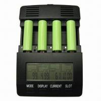 Buy cheap AA/AAA NiMH/NiCd Battery Charger/Indusial Working Mode/Discharging/Charging Current with Backlight from wholesalers